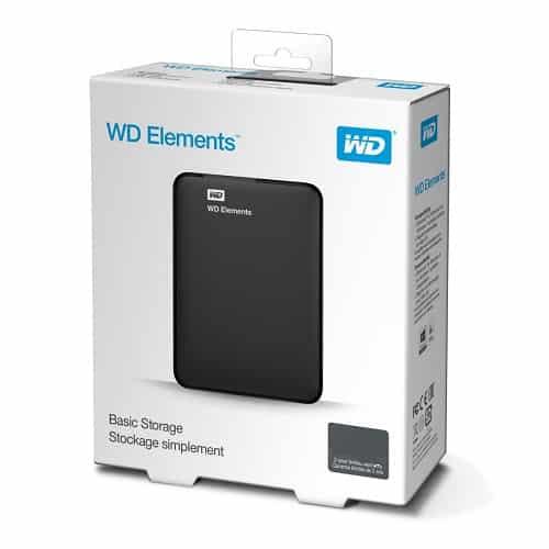 Disco Externo 1TB W.D. Elements Black